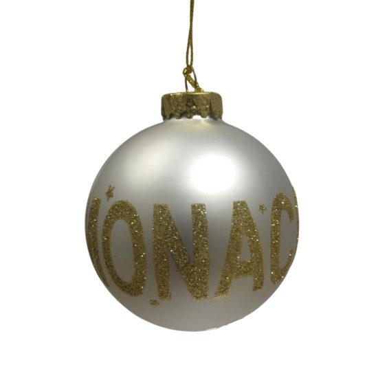 Boule de Noël blanche Monaco