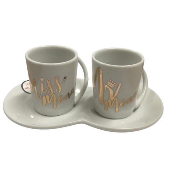 Coffret de tasses à moka Miss et Mister Monaco